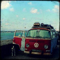 Old school, vintage, van, volkswagen, roadtrip. Volkswagen Transporter, Volkswagen Bus, Vw T1, Vw Camper, My Dream Car, Dream Cars, Vw Beach, Vw Vintage, Vintage Campers