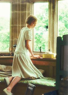 From Atonement: A greatly underrated film.   Saiorce Ronan as Brioney.