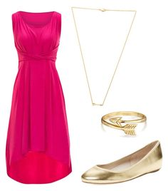 """hot pink/gold"" by liniki on Polyvore featuring Elorie, Wanderlust + Co and Bling Jewelry"
