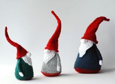 3 Gnomes  pdf knitting patterns. Christmas Ornament. by deniza17