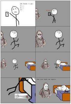 My irrational childhood fear... No wait, I still do that ;P
