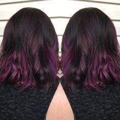 joico intensity pink amethyst purple hair pinwheel technique brown hair winter 2016