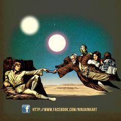 Creation of a New Hope by ninjaink #starwars