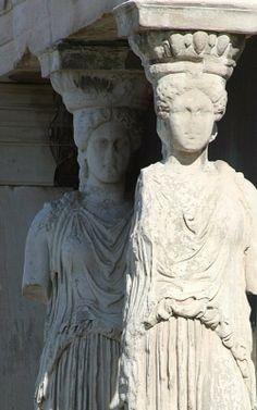 Caryatids detail, Acropolis, Athens (Dave's Photos)