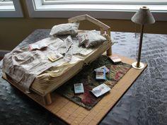 Amanda Patterson (nomislittleartblog: Book bed!)