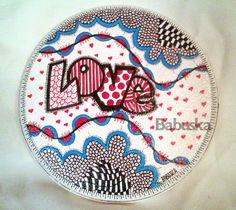 "Babuska... con Amor: Mandala en madera ""Love"""