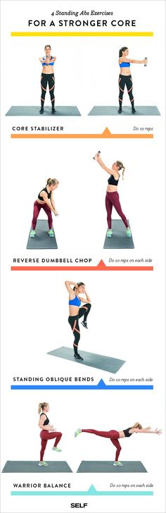 Give yourself a standing COREvation with these 4 extremely effective standing abs exercises for a strong core.
