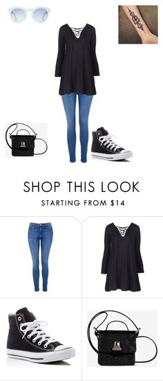 """""""Olivia"""" by basheygirl on Polyvore featuring Topshop, Converse and MM6 Maison Margiela"""