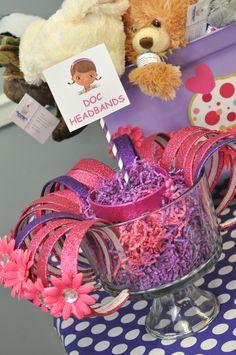 Headbands at a Doc McStuffins Party #docmcstuffins #party