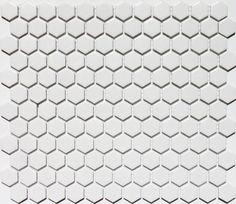 Mosaix Hexagonal White Matt Mosaic Tile 260 x 300 Outdoor Tiles, Mosaic Tiles, Tile Floor, Flooring, Crafts, Bathroom, Kitchen, Mosaic Pieces, Washroom
