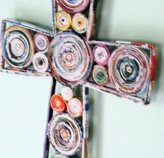 magazine craft | Recycled Magazine Page Crafts