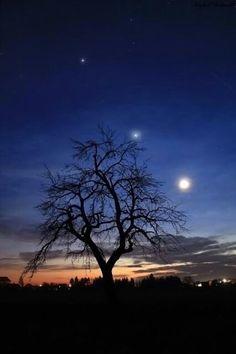 Jupiter, Venus, Moon from Hungary  ::::Beautiful::::