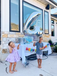 4th Birthday Party by popular Utah motherhood blog, A Slice of Style Jenica Parcell and her husband with their twin children who were conceived via several rounds of IVF treatments.  Now they are enjoying their 4th birthday party with a few friends and family.   image of boy and girl twins holding a birthday balloon bouquet together. Autistic Children, Adhd Kids, 4th Birthday Parties, Birthday Balloons, Shark Cupcakes, Twin First Birthday, Ivf Treatment, Quotes About Motherhood, Balloon Bouquet