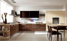 Imagini pentru bucatarii moderne mdf Küchen Design, Clean Design, Cooking Together, Kitchen Styling, Kitchen Living, Kitchen Organization, Corner Desk, In This Moment, Contemporary