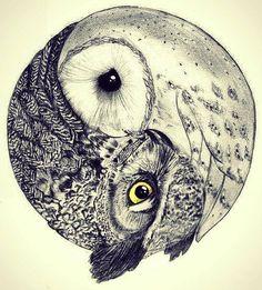 Owl ying yang Cool pretty hippie hipster vintage boho indie Grunge flower urban bohemian