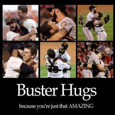 Buster Posey and Joe Panik | Look: Buster Posey Hugs...Great Giants Moments!
