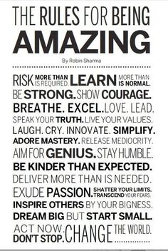 "Robin Sharma taught me the ""Life Audit"" and not settling for Mediocrity. Here are his Rules for being AMAZING! The Words, Great Quotes, Quotes To Live By, Amazing Quotes, Daily Quotes, Amazing Pictures, Wisdom Quotes, Quotes Quotes, Affirmations Positives"