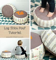 Erdei farönk alakú puffok gyerekeknek (szabásmintával) / Mindy -  kreatív ötletek és dekorációk minden napra