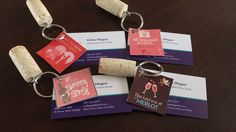 Wine cork Keychains attached to business cards Wine Tasting Events, Wine Tasting Party, Wine Parties, Wine Shop At Home, Happy Wine, Wine Direct, Traveling Vineyard, Buy Wine Online, Wine Sale