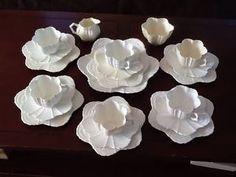Vintage Witeman Shelley, antique 21 piece white tea set. c 1890.'Rd150035.shell