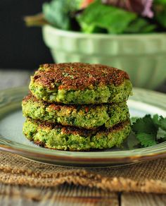 vegan broccoli fritters