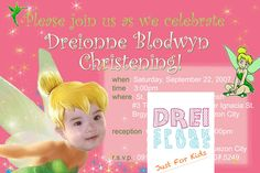 Drei Spark Plugs: Party Invitations Tinkerbell Theme Custom-made design made exclusively by Drei Spark Plugs Personalized Layout and Pri...
