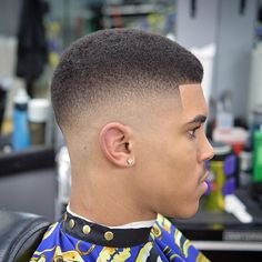 Fade Haircut for Black Men, High and Low Afro Fade Haircut (April Really Short Haircuts, Black Men Haircuts, Black Men Hairstyles, Very Short Hair, Trendy Haircuts, Hairstyles Haircuts, Short Hair Cuts, Cool Hairstyles, Short Hair Styles