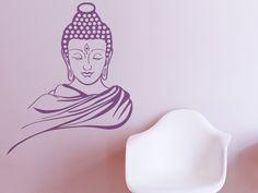 Buddha-Figur als Wandaufkleber. Designer: J.Noah.K
