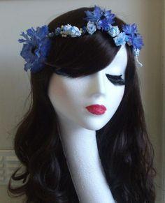 Floral Flower Garland Crown Headband Headdress Festival Boho Wedding Vintage