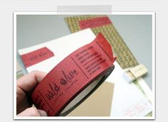 Business card tape. Holy Cow this is a great idea! I'm going to have to make me some.