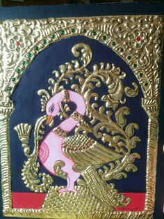 Peacock-Tanjore painting