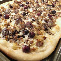 Sausage & Grape Pizza - but make it with prosciutto instead