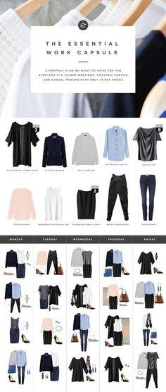 Peças essenciais em um guarda roupa cápsula