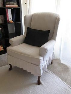 Wing Chair Slipcover Tutorial by angel