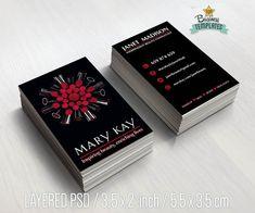 Tarjetas de visita Mary Kay imprimibles  por TopBusinessTemplates