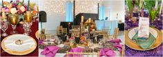 """Following a """"Wanderlust"""" inspiration board the tables from The Big Fake Wedding Dallas"""