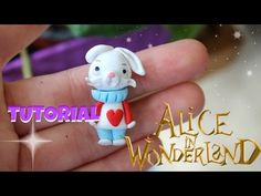 Alice in Wonderland White Rabbit polymer clay tutorial