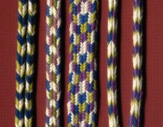 4-step braids instructions-Japanese hand held braid or KUTE-UCHI
