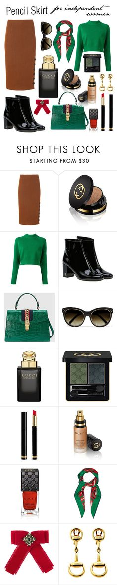 """""""Без названия #206"""" by xeniaalexandrovna ❤ liked on Polyvore featuring TIBI, Gucci, DKNY, Yves Saint Laurent and Chloé"""