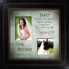 Personalized Wedding Photo Frame FAV_DAD 173 ABK by PhotoFrameCompany coming soon to Etsy, $79.00
