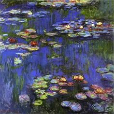 1.5 x 60 x 40-Inch iCanvasART 3-Piece Nympheas 1904 Canvas Print by Claude Monet