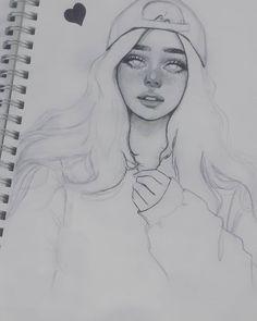 Best 11 – Page 633387434348881 – SkillOfKing.Com - Art and Illustrations - Art Sketches Pencil Art Drawings, Art Drawings Sketches, Realistic Drawings, Cute Drawings, Sketches Of Girls, Girl Sketch, Sketch Art, Sketches Of Eyes, Hipster Drawings