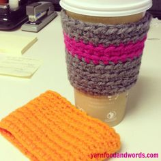 Crochet Coffee Cozy Pattern for Disposable Cups