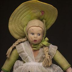 """9"""" Italian felt LENCI doll - antique dolls for sale on Ruby Lane"""