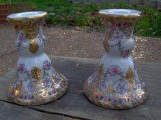 Vintage Pair of 2 Nippon candlestick holders- Beautiful Ornate design ...