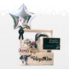 Diy Birthday Box, Birthday Gifts, Fathers Day Hampers, Homeade Gifts, Balloon Box, Birthday Morning, Bbq Gifts, Honey Shop, Best Dad Gifts