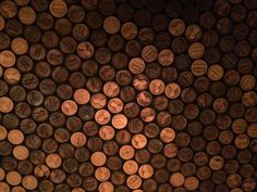 Penny floor at cafe