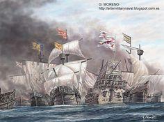G. Moreno, Batalla de las islas Terceras.