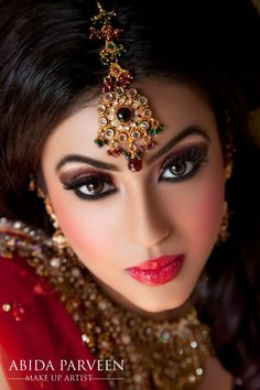 Beautiful Indian Bride - reception makeup