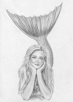 Image result for Pencil Drawings of Mermaids